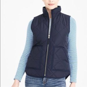 J. Crew excursion quilted puffer vest navy blue XS